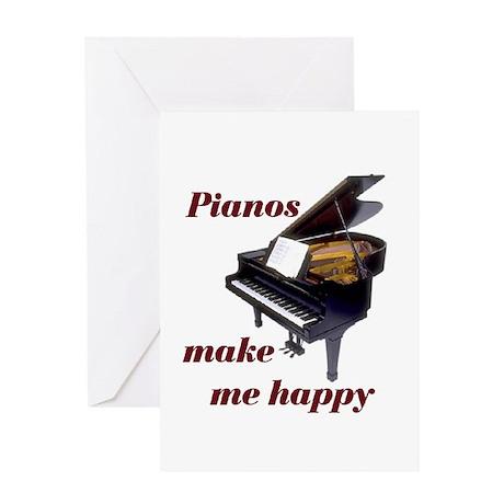 PIANOS Greeting Card
