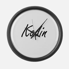 Kadin Artistic Name Design Large Wall Clock