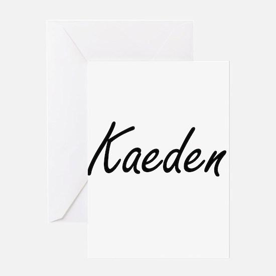 Kaeden Artistic Name Design Greeting Cards