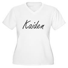 Kaiden Artistic Name Design Plus Size T-Shirt
