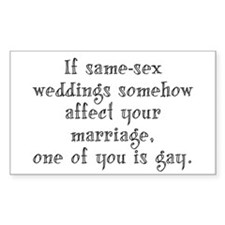 Same Sex Weddings - Lg Decal