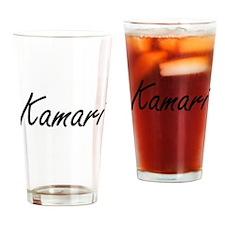 Kamari Artistic Name Design Drinking Glass