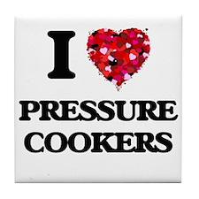 I Love Pressure Cookers Tile Coaster
