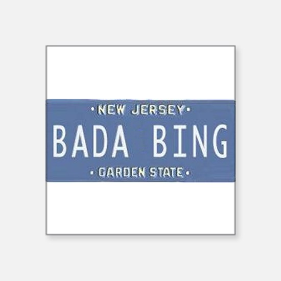 "Cute Bada bing Square Sticker 3"" x 3"""