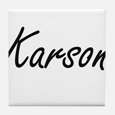 Karson Artistic Name Design Tile Coaster