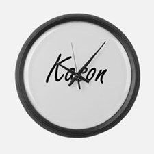 Kason Artistic Name Design Large Wall Clock