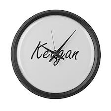 Keagan Artistic Name Design Large Wall Clock