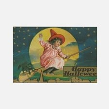 Cute Vintage happy halloween Rectangle Magnet