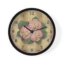 Hydrangea Valentine Wall Clock