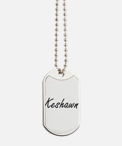 Keshawn Artistic Name Design Dog Tags