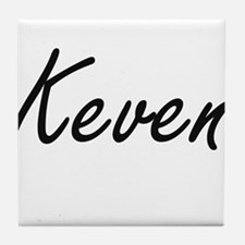 Keven Artistic Name Design Tile Coaster
