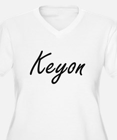 Keyon Artistic Name Design Plus Size T-Shirt