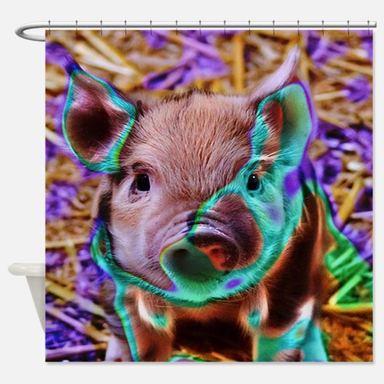 funky Piglet Shower Curtain