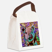funky Piglet Canvas Lunch Bag