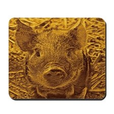 metal golden Piglet Mousepad