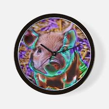 funky Piglet Wall Clock