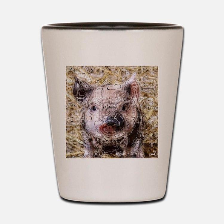 scribbled Piglet Shot Glass