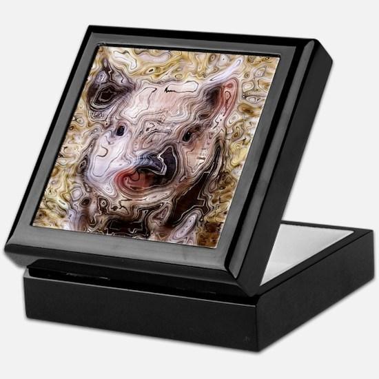 scribbled Piglet Keepsake Box