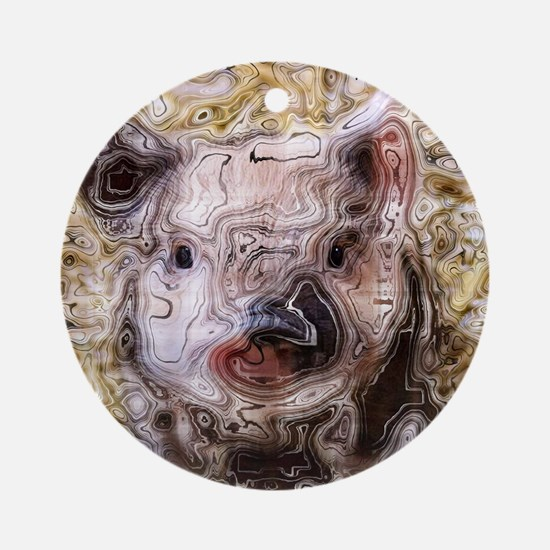 scribbled Piglet Round Ornament