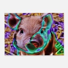 funky Piglet 5'x7'Area Rug