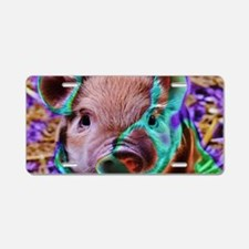 funky Piglet Aluminum License Plate