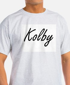 Kolby Artistic Name Design T-Shirt