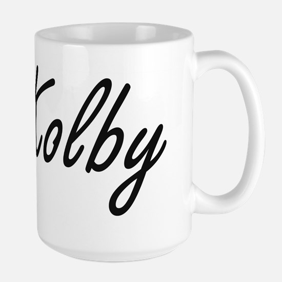 Kolby Artistic Name Design Mugs