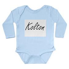 Kolton Artistic Name Design Body Suit