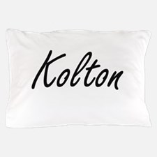 Kolton Artistic Name Design Pillow Case
