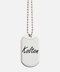 Kolton Artistic Name Design Dog Tags