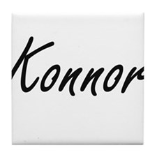 Konnor Artistic Name Design Tile Coaster