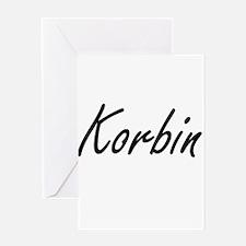 Korbin Artistic Name Design Greeting Cards