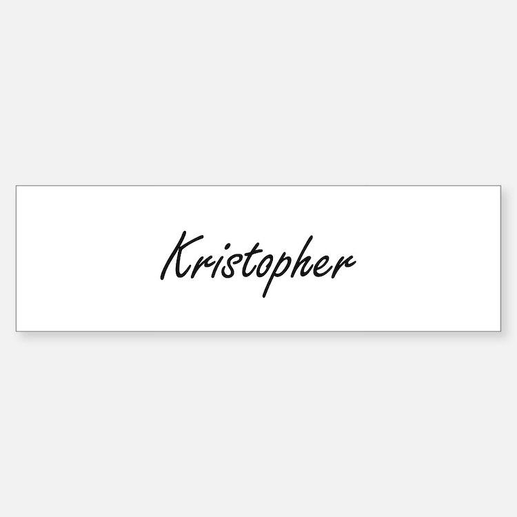 Kristopher Artistic Name Design Bumper Bumper Bumper Sticker