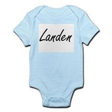 Landen Artistic Name Design Body Suit