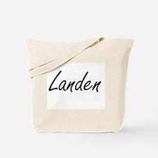Landen Artistic Name Design Tote Bag