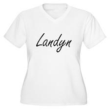 Landyn Artistic Name Design Plus Size T-Shirt