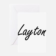 Layton Artistic Name Design Greeting Cards
