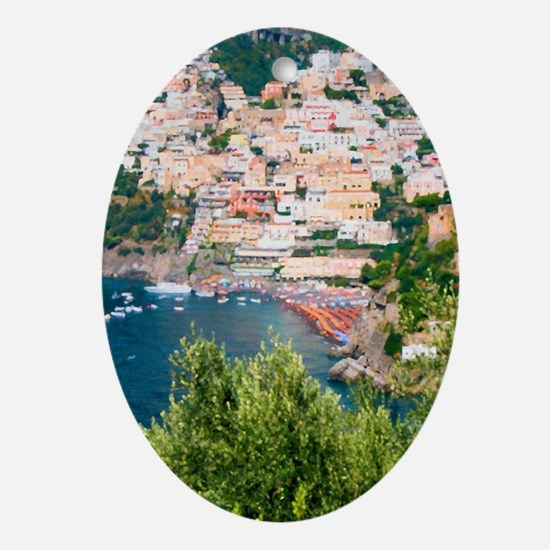 Italy, Amalfi Oval Ornament