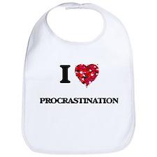 I Love Procrastination Bib