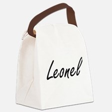 Leonel Artistic Name Design Canvas Lunch Bag