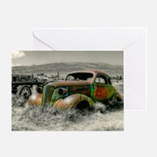 1937 Master Coupe wreck Greeting Card