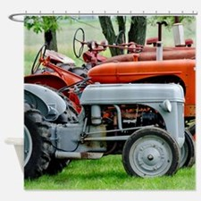 American Farm Tractors Shower Curtain