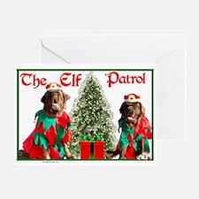 Elf Patrol Greeting Card