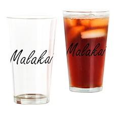 Malakai Artistic Name Design Drinking Glass