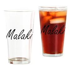 Malaki Artistic Name Design Drinking Glass