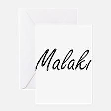 Malaki Artistic Name Design Greeting Cards