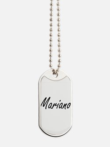 Mariano Artistic Name Design Dog Tags