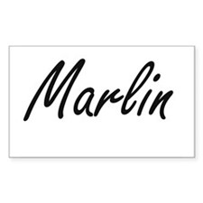 Marlin Artistic Name Design Decal