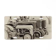 Tractors Aluminum License Plate