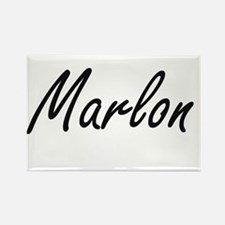 Marlon Artistic Name Design Magnets